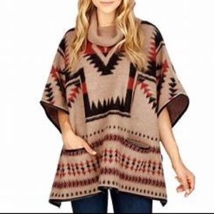 🔥Lucky Brand • Aztec Poncho